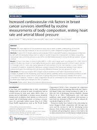 Body composition associated with cardiovascular risk in patients with breast cancer survival